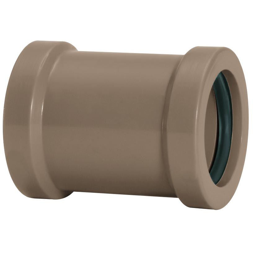Luva de Correr Soldavel PVC Marrom 50 mm - Amanco