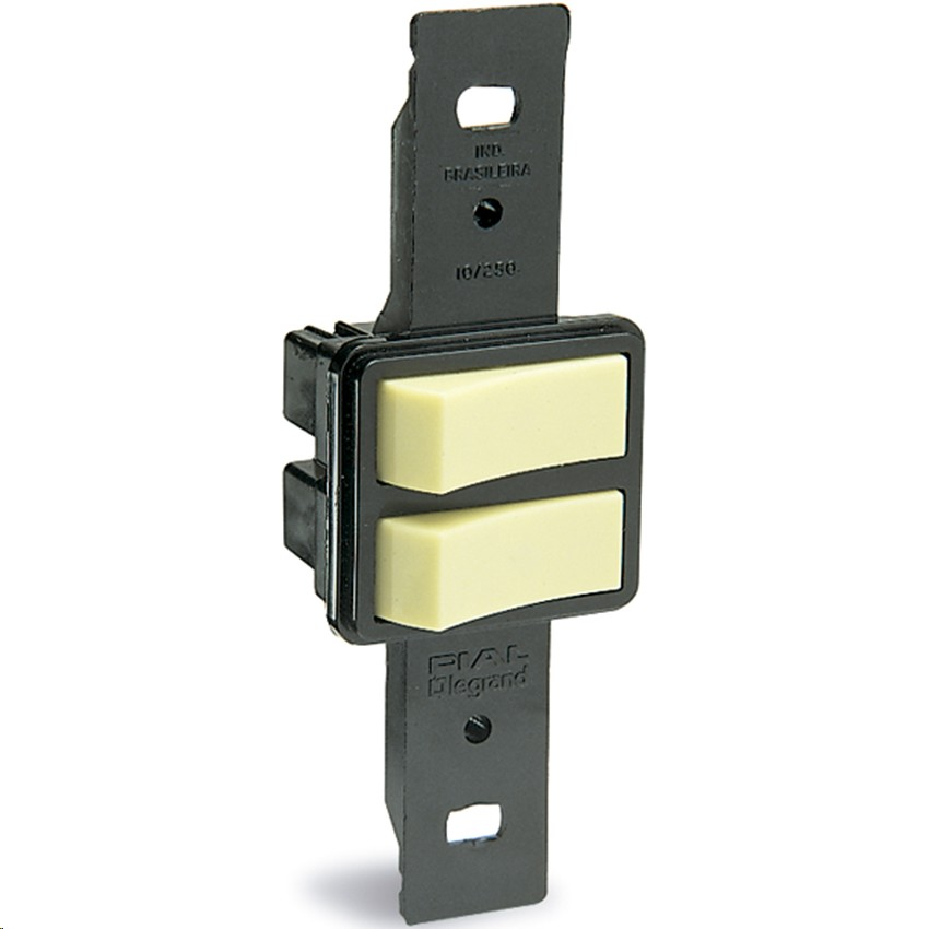 Conjunto Interruptor Simples Interruptor Paralelo Alavanca 2 Modulos 10A - Legrand