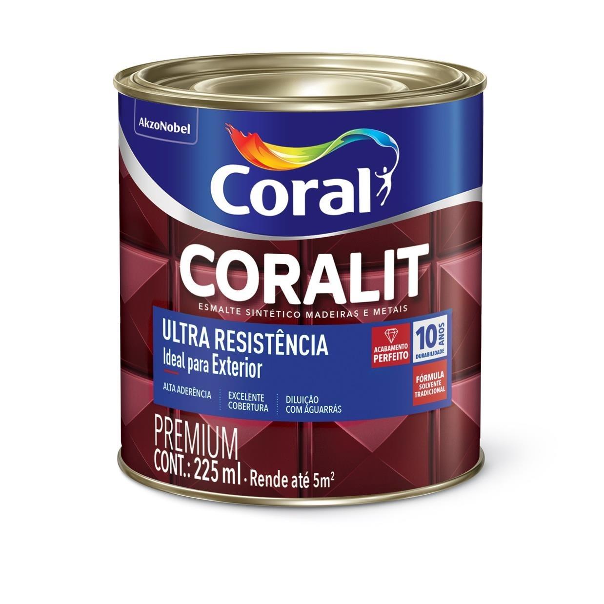 Tinta Esmalte Sintetico Alto brilho Premium 02L - Branco Neve - Coralit Coral