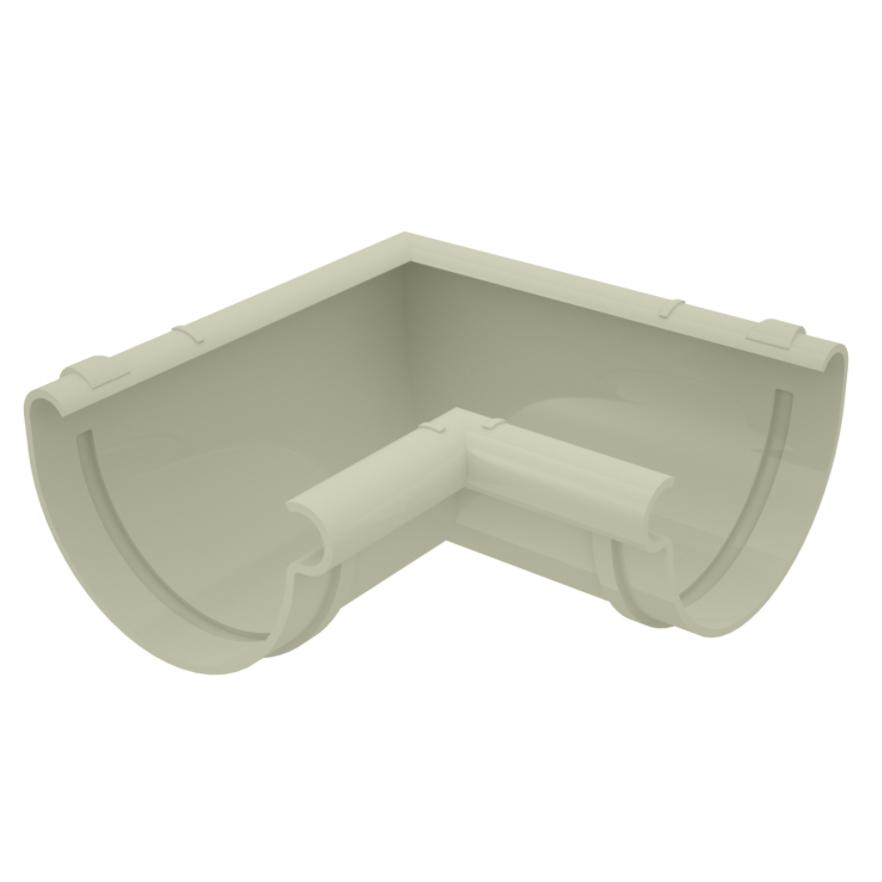 Esquadro de PVC Circular Interno 125 mm Bege - Aquapluv Tigre