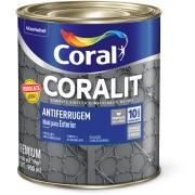 Tinta Esmalte Sintético Coralit Antiferrugem 0,9L Cinza - Coral