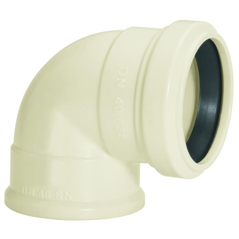 Joelho 90 para Esgoto PVC Branco 40 mm x 38 mm - Amanco