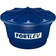 Caixa D'água de Polietileno com Tampa 500L Azul - Fortlev