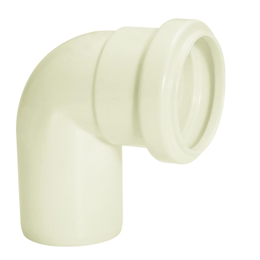 Joelho 90 para Esgoto PVC Branco 100 mm - Amanco