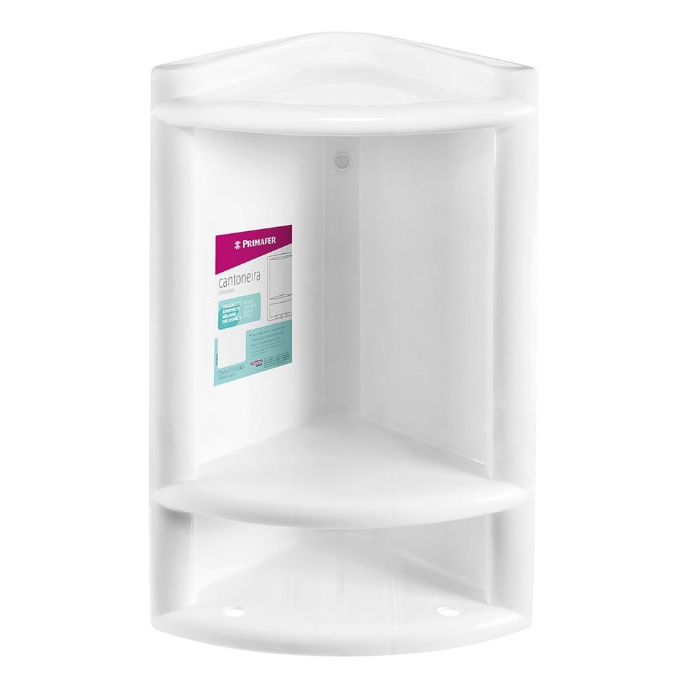 Cantoneira de Banheiro Plastico Branco 10122 - Primafer