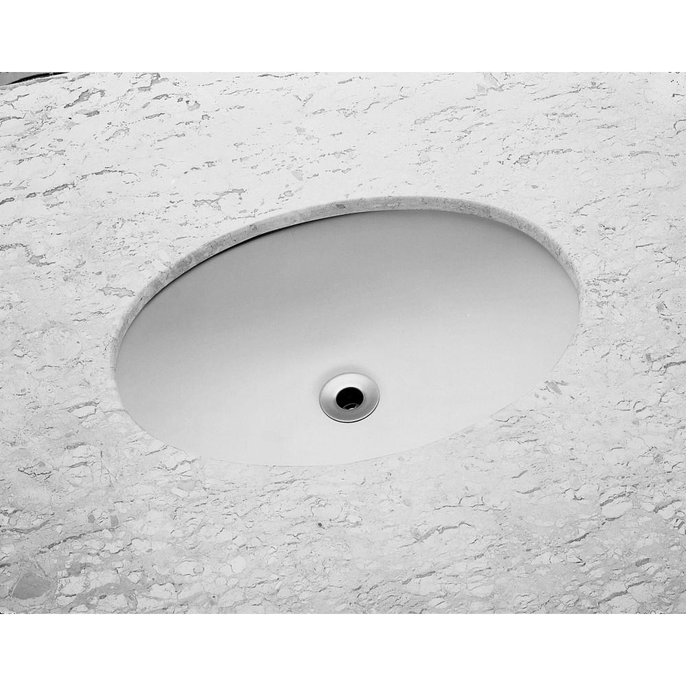 Cuba de Louca de Embutir Oval 51x34 cm Branco - Celite