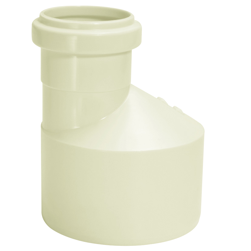 Reducao Excentrica de Reducao para Esgoto PVC Branco 100 mm x 50 mm - Amanco
