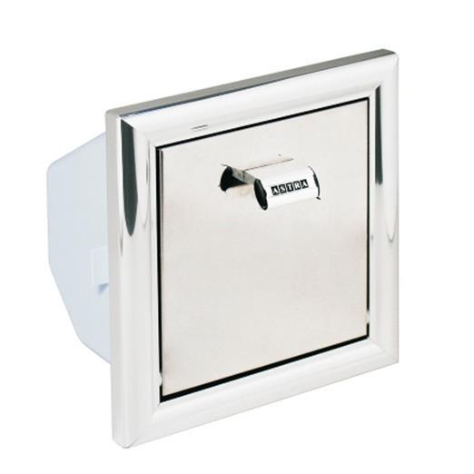 Porta Papel Higienico de Parede para Embutir 17x17x11 cm Cromado PLB2 - Astra