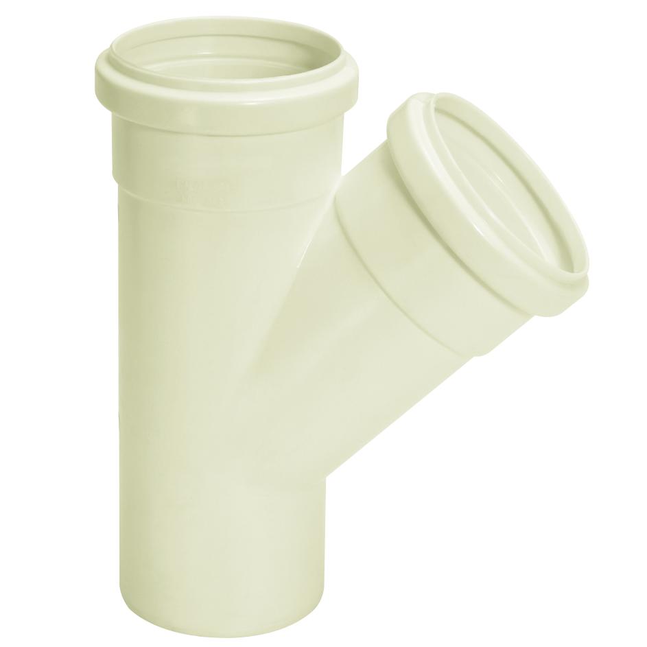 Juncao Simples para Esgoto PVC Branco 50 mm - Amanco