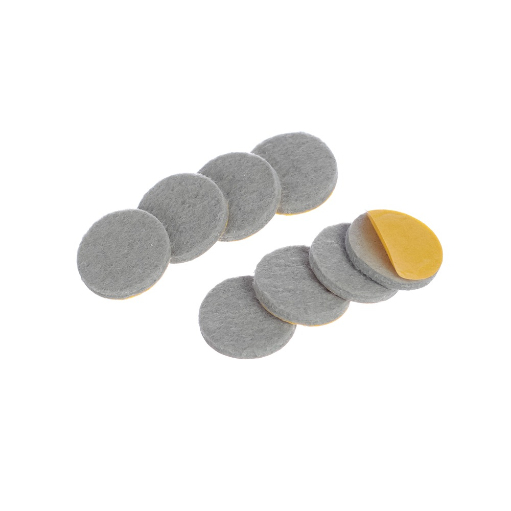 Protetor anti-risco de Feltro Adesivo Redondo Cinza 21x3 mm - Engedom