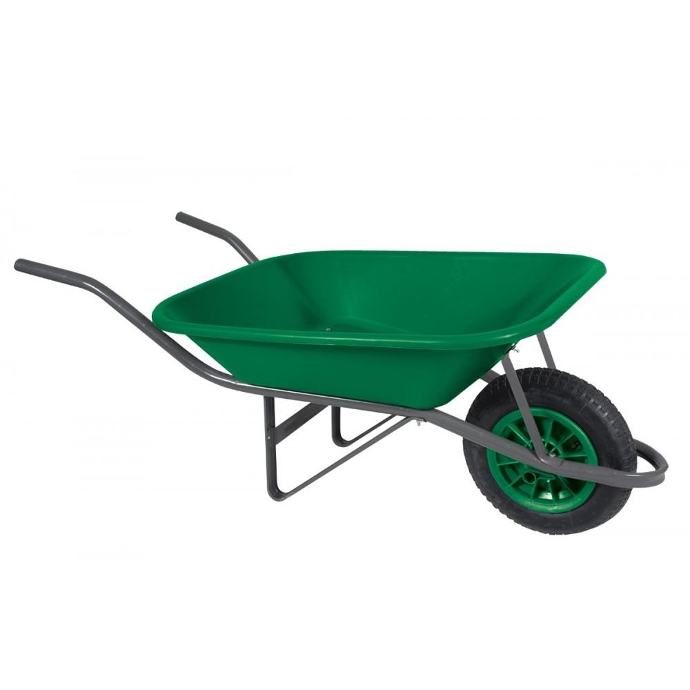 Carro de Mao Polietileno Aro Plastico Pneu Camara Verde - Metasul
