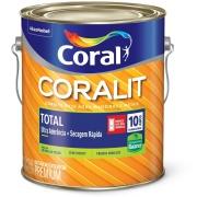 Tinta Esmalte Sintético Acetinado Premium 3,6L - Branco Neve - Coralit Zero Coral