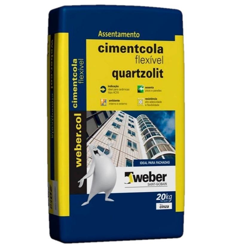 Argamassa ACIII Cimentcola Flexivel 20kg - Quartzolit