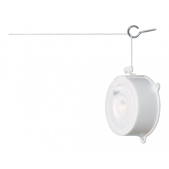 Varal Retratil de Plastico 18 m Branco - Secalux