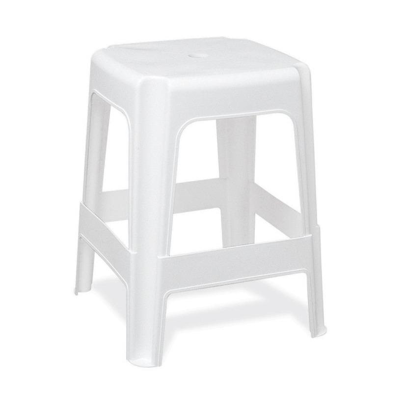 Banqueta Alta 35cm Branco - TramontinaAmarrado de 12 un