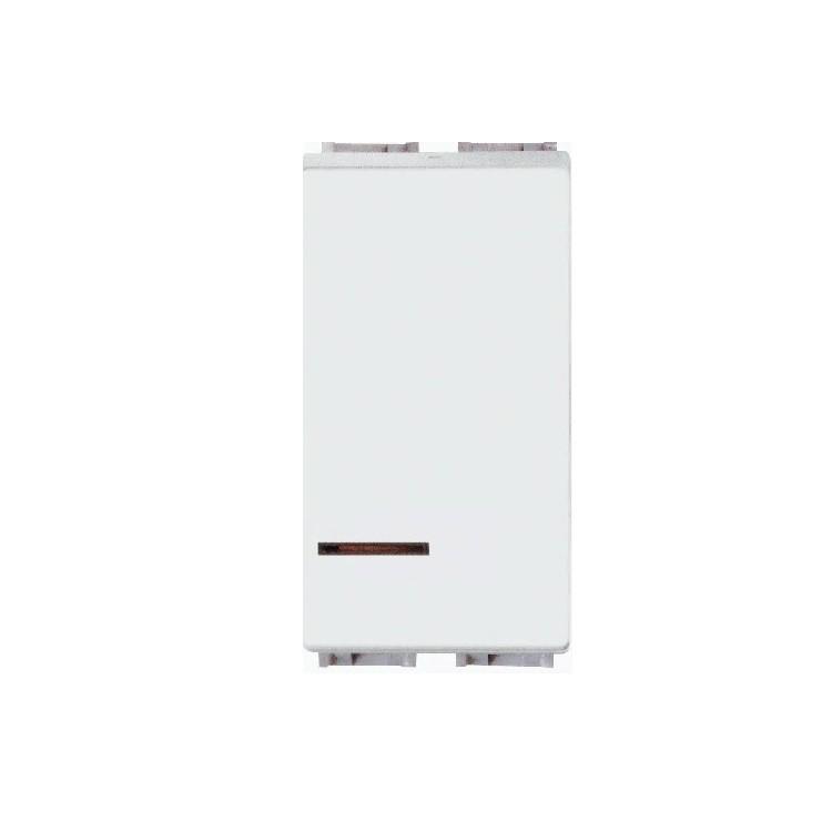 Modulo Interruptor Paralelo 1 Modulo Com LED 10A - Branco - Thesi - Bticino