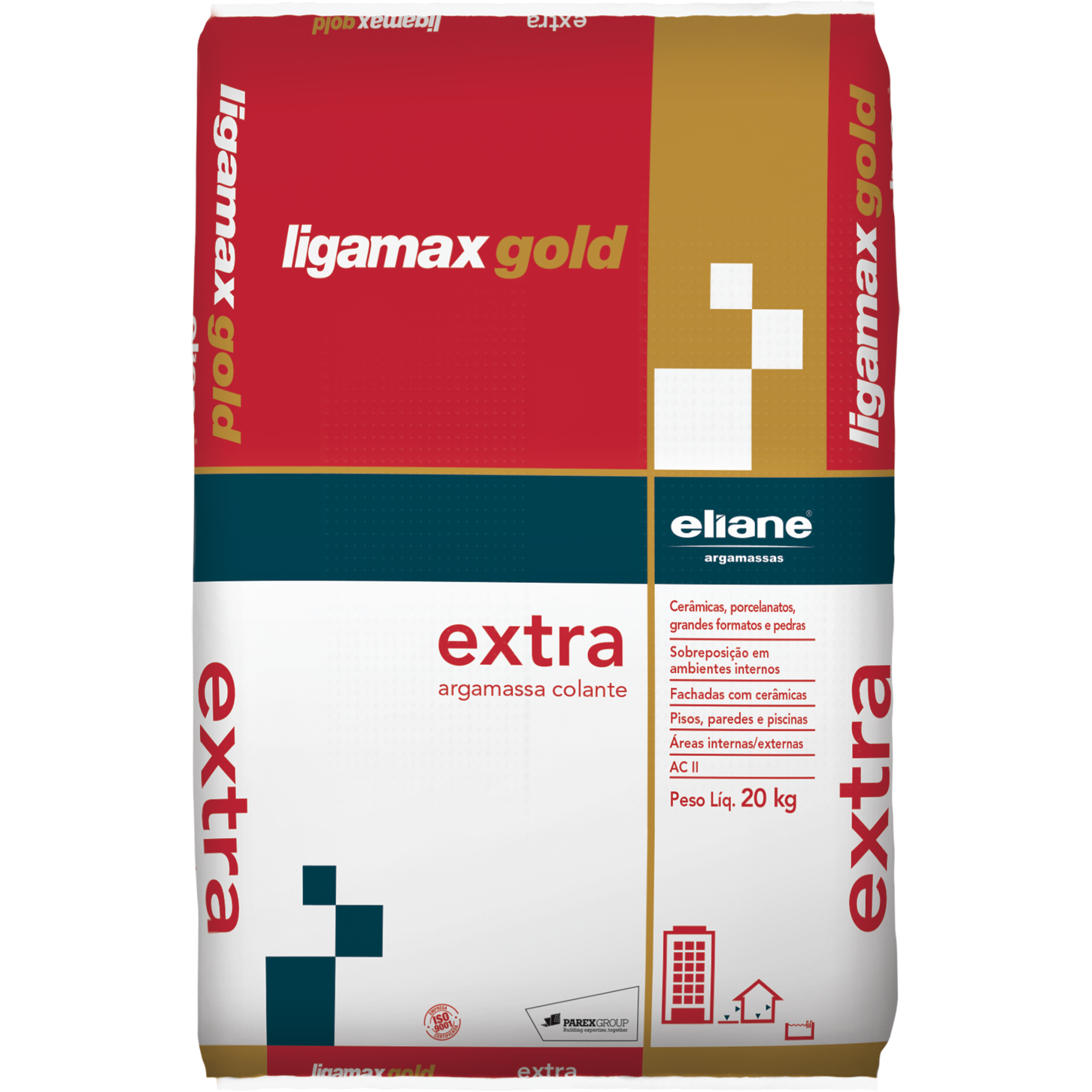 Argamassa ACII Ligamax Externo Cinza Saco20kg - Eliane