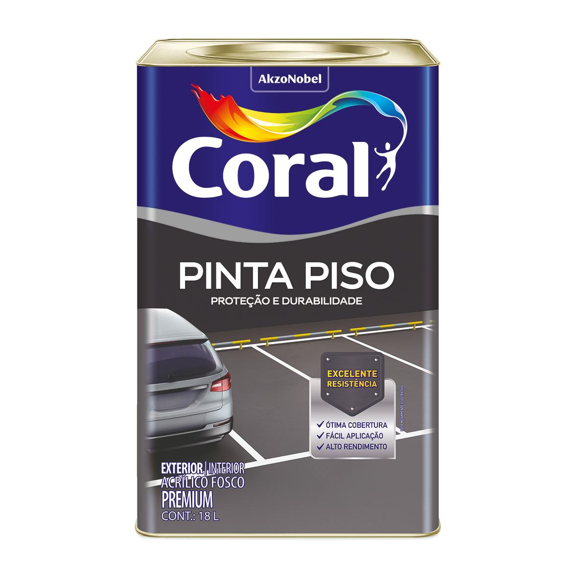 Tinta Acrilica Fosco Premium 18L - Azul - Coralpiso Coral