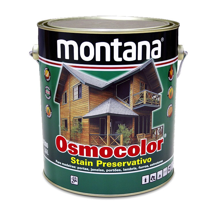 Stain Osmocolor Cores Solidas Acetinado - Branco Neve - 3600L - Montana