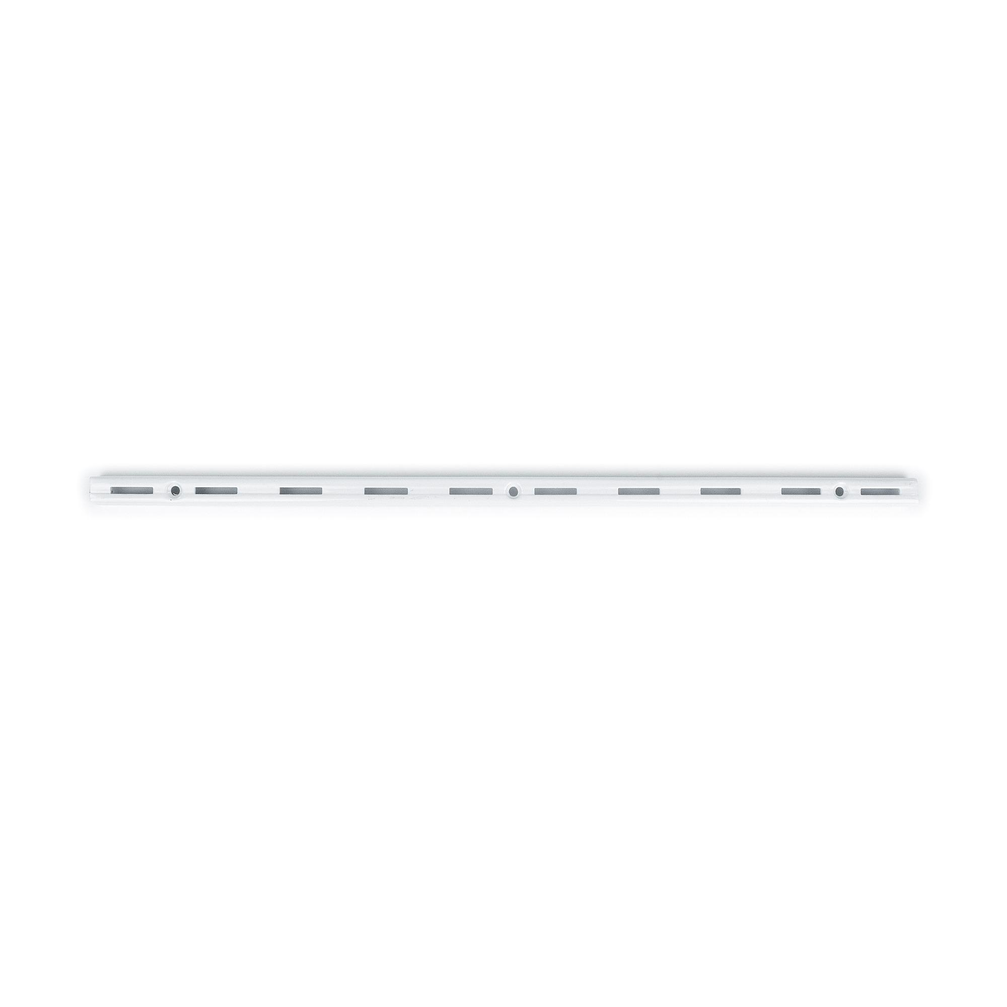 Trilho para prateleira de Aco Encaixe Simples 100cm Branco - Fico