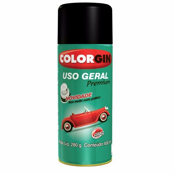 Verniz Spray Uso Geral Brilhante - Incolor - 0400L - Colorgin