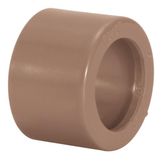 Bucha de Reducao Curta Soldavel PVC Marrom 75 mm x 60 mm - Amanco