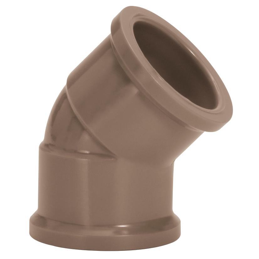 Joelho 45 Soldavel PVC Marrom 85 mm - Amanco