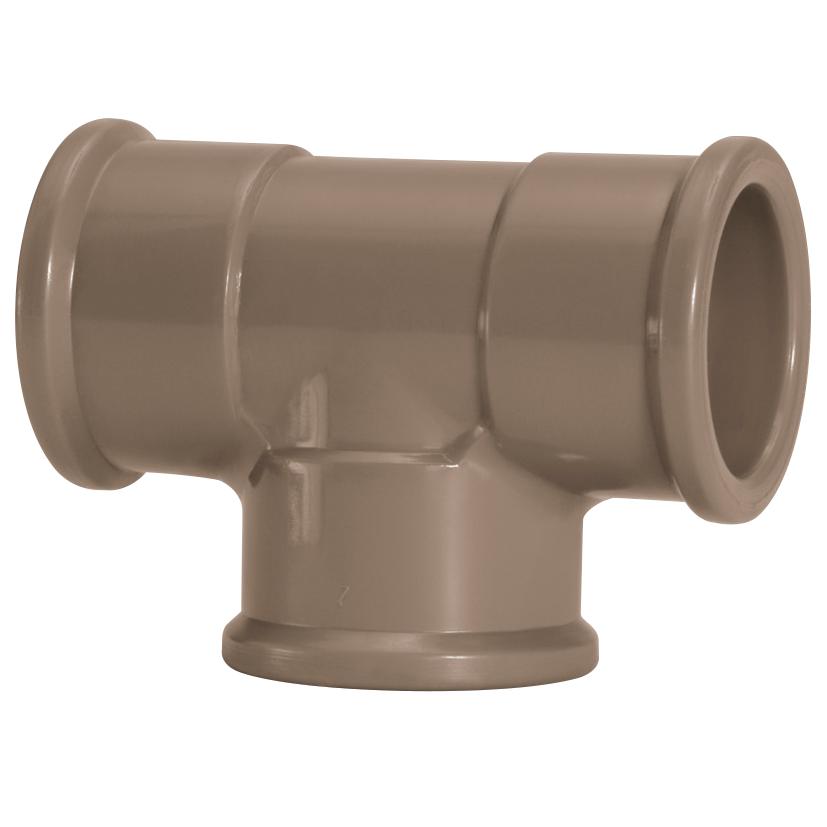 Te 90 Soldavel PVC Marrom 85 mm - Amanco
