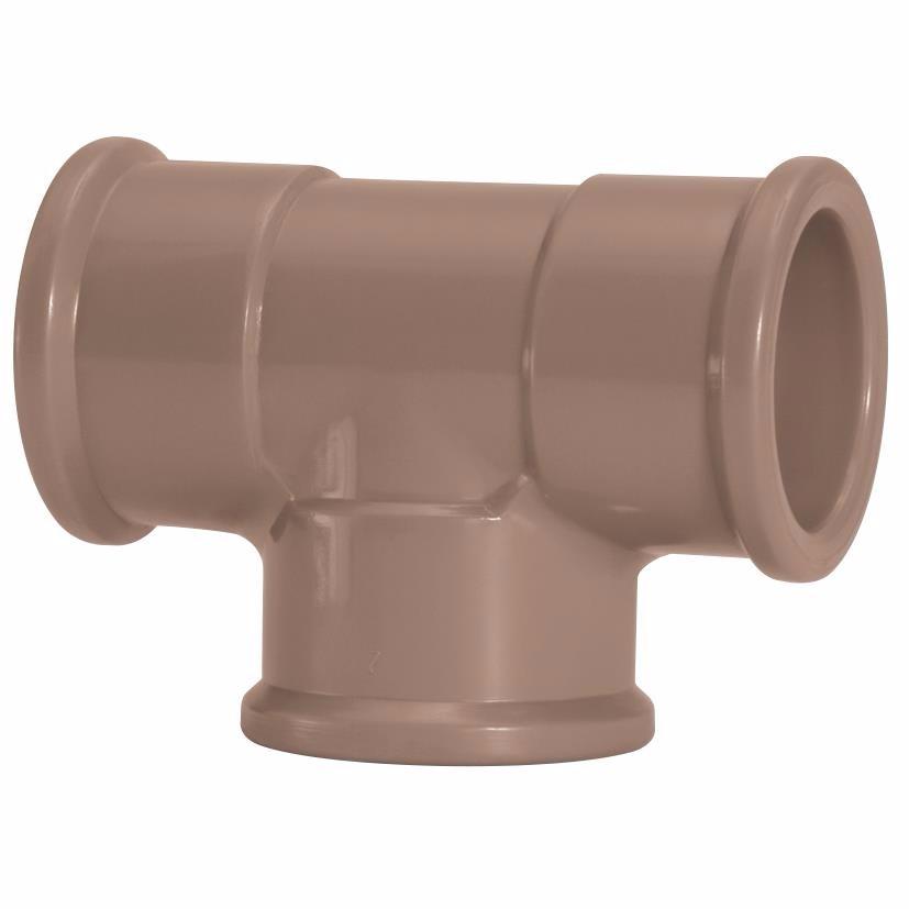 Te 90 Soldavel PVC Marrom 110 mm - Amanco