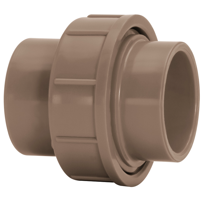Uniao Soldavel PVC Marrom 85 mm - Amanco