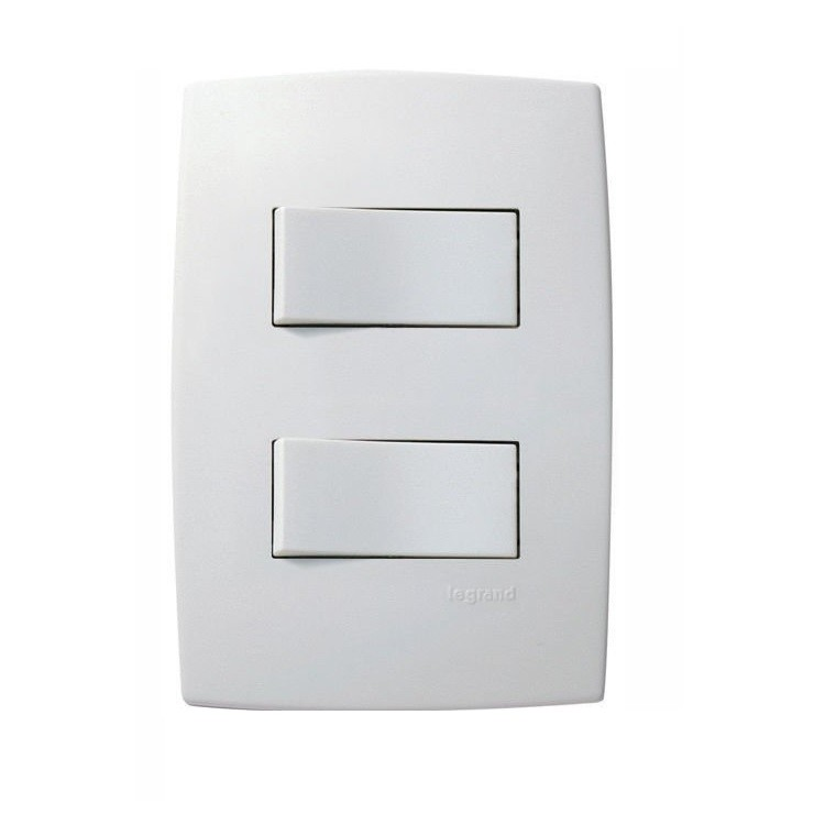 Conjunto Interruptor Simples 2 Modulos 10A - Branco - Plus - Legrand