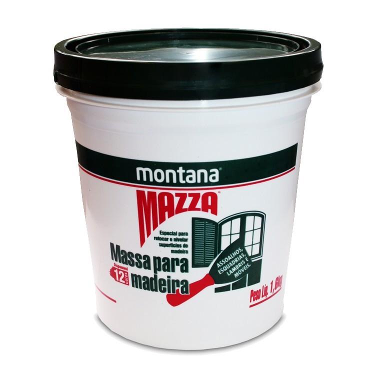 Massa Para Madeira Mazza - Mogno - Balde 1600Kg - Montana