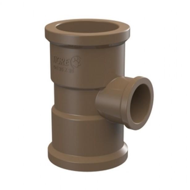 Te de Reducao 90 Soldavel PVC Marrom 85 mm x 60 mm - Tigre