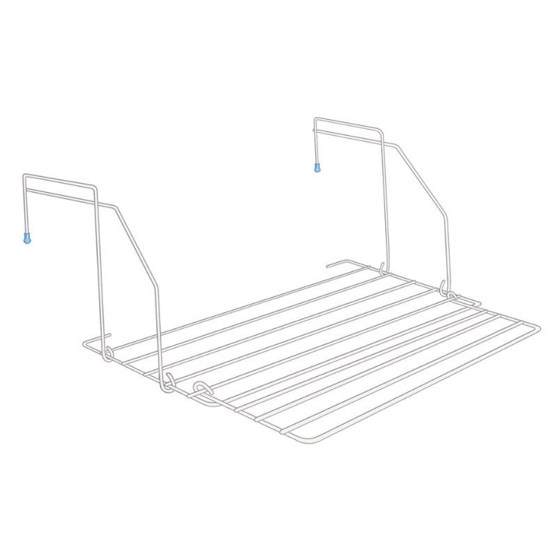 Varal Portatil Dobravel de Aco 8 Hastes 54x50cm Branco - Secalux